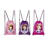 Disney Princess Sofia Drawstring Bag (3 Bags)