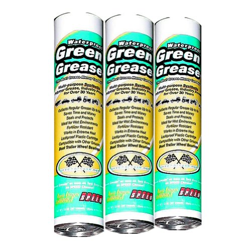 Green Grease 1103 Synthetic Waterproof High Temperature Grease, 14 Oz. Tube (Pack of 3)