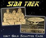"STAR TREK ""THE NEXT GENERATION STARSHIP ENTERPRISE & CREW"" 23KT GOLD CARD! ONLY 10,000!"