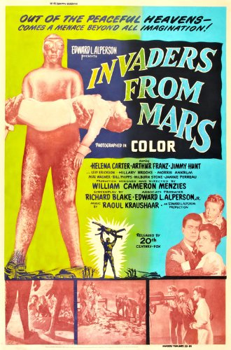 Invaders from Mars Vintage 1953 Film Poster