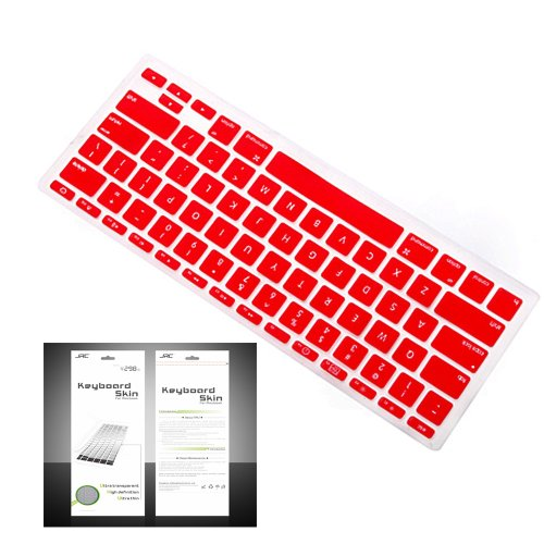 "Smart Tech ® Ultra Thin Silicone Keyboard Cover Skin For Apple Macbook Air 11.6""(Model:A1370 And A1465) (Keyboard Cove+Red)"