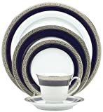 Noritake Crestwood Cobalt Platinum 20-Piece Dinnerware Place Setting, Service for 4