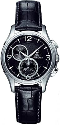 Hamilton Men's H32372735 Jazzmaster Black Guilloche Dial Watch