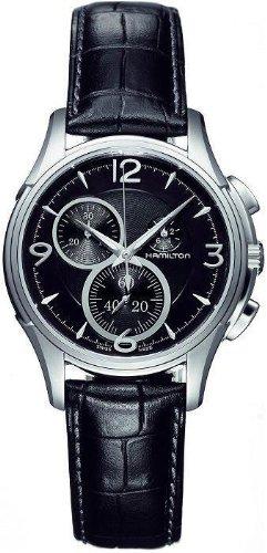 Hamilton Men's H32372735 Jazzmaster Black Guilloche Dial Watch