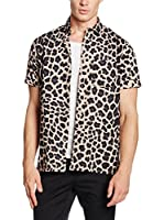 Marc by Marc Jacobs Camisa Casual London Leopard (Beige / Negro)