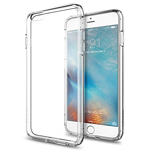 Spigen iPhone6s Plus ケース / iPhone6 Plus ケース, ウルトラ・ハイブリッド [ 背面 クリア ] アイフォン6s プラス / 6 プラス 用 米軍MIL規格取得 耐衝撃カバー (クリスタル・クリア SGP11644) …