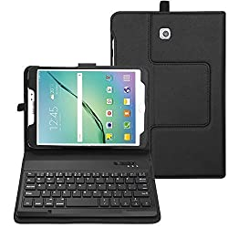 BMOUO Samsung Galaxy Tab S2 8.0 Case with Keyboard - Ultra Slim Detachable Bluetooth Keyboard Portfolio Leather Case Cover for Samsung Tab S2 8.0