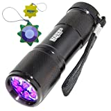 UV Detect UV Flashlight – Best LED Ultra Violet Blacklight for Pet Stains – Cat Stain Detector, Dog Stain Detector Torch – Find Stains on Carpet, Rugs, and Furniture – Includes 3 AAA Batteries