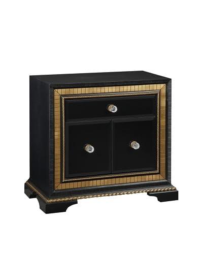 Bassett Mirror Company Villa Granada Small Chest, Black/Gold/Crystal As You See