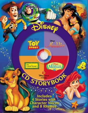 Disney CD The Lion King, the Little Mermaid, Toy Story, Aladdin: Disney Cd Storybook (4-in-1 Disney Audio CD Storybooks)