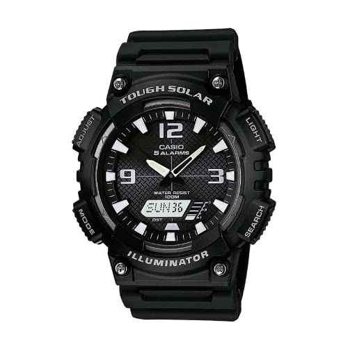 Casio AQ-S810W-1AVEF Men's Quartz Watch with Black Dial Analogue - Digital Display and Black Resin Strap