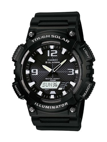 Casio Men's Quartz Watch with Black Dial Analogue - Digital Display and Black Resin Strap AQ-S810W-1AVEF