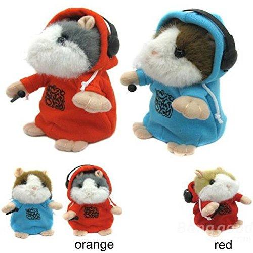 Bheema DJ Rapper apprentissage porter des vêtements Hamster Répétez Parler de jouets - Red