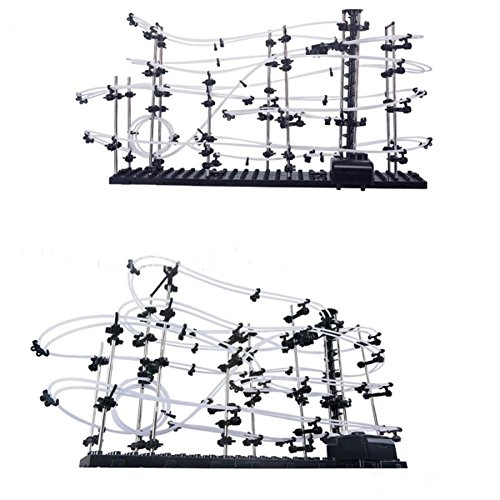 RHH SpaceRail DIY 630 Inch Physics Space Ball Rollercoaster with Powered Elevator