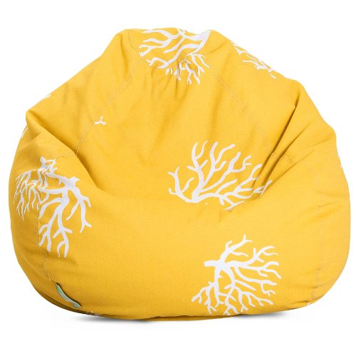 Majestic Home Goods Coral Bean Bag, Small, Yellow