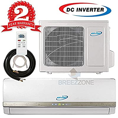 Ductless Mini Split Air Conditioner Heat Pump System Variable Speed Compressor 220V 15 SEER