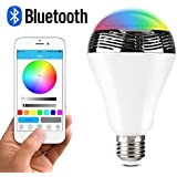 Maxbo 4.0+EDR Speaker Bluetooth Smart LED Light E27 RGB Bulb Speaker Dimmable Multicolored Color Changing Play...