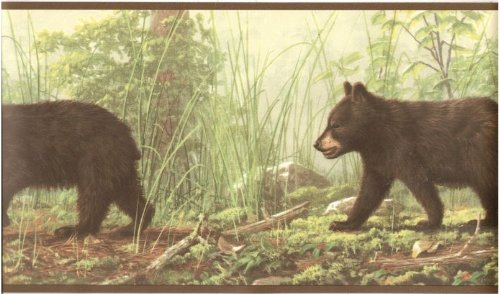 Bear Cubs in the Woods Wallpaper Border