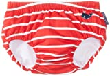 JoJo Maman Bebe Baby-Boys Newborn Swim Diaper, Red/White Stripe, 3-6 Months