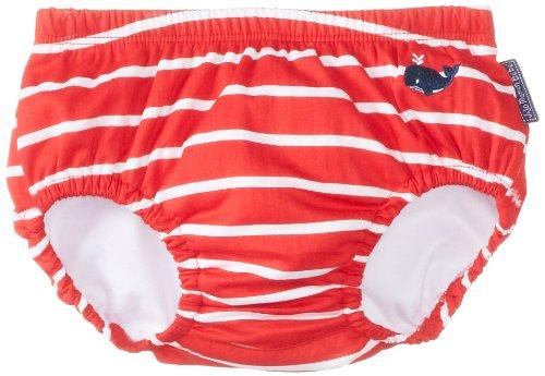 JoJo Maman Bebe Baby-Boys Newborn Swim Diaper Red White Stripe - 1