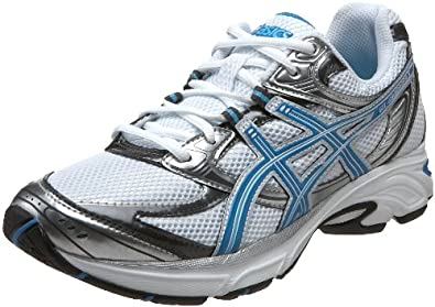 ASICS Women's GEL-Kanbarra 6 Wide T190N.0143 Running Shoe,White/Blue Jewel/Lightning,9 D US