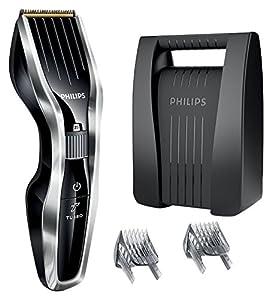 Philips HC5450/80 - Cortapelos con cuchillas de titanio, tecnología Dual Cut y función turbo, color negro y gris