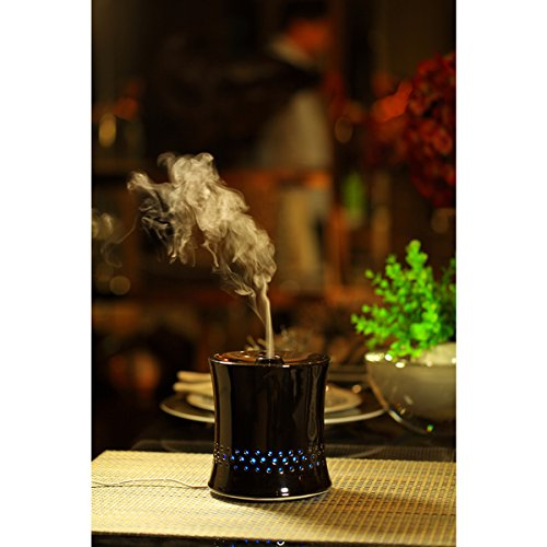 SPT Ceramic Ultrasonic Black Aroma Diffuser/ Humidifier , Create A Relaxing And Aromatherapeutic Environment.