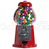 "Carousel Classic Gumball Machine Bank, 12"" tall - Die cast Metal Glass Globe"