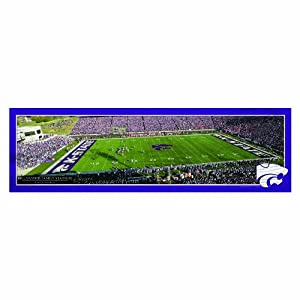 Buy NCAA Kansas State Wildcats Panoramic Stadium View Wood Sign, 9 x 30-Inch by WINAV