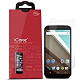 iCarez Anti Glare & Anti-Fingerprint Matte Screen Protector for Motorola Google Nexus 6 [Unique Hinge Install Method with Kits] [3-Pack] - Retail Packaging