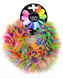 Touch of Nature 1-Piece Feather Fluffy Craft Boa for Arts and Crafts, 1-Yard, Bubble Gum Balls