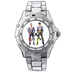 montre bracelet montre hommes cadeau no l epsp183 yamaha helmet valentino rossi stainless steel. Black Bedroom Furniture Sets. Home Design Ideas