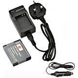 DSTE® DMW-BCM13E DMW-BCM13PP Rechargeable Li-ion Battery + Charger DC145U for Panasonic Lumix DMC-FT5, DMC-TS5, DMC-TZ37, DMC-TZ40, DMC-TZ41, DMC-ZS27, DMC-ZS30 Digital Cameras