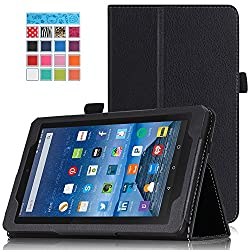 Amazon Kindle Fire 7 2015 Case - MoKo Slim Folding Cover for Kindle 7 inch Display Tablet (5th Generation - 2015 Release Only), BLACK