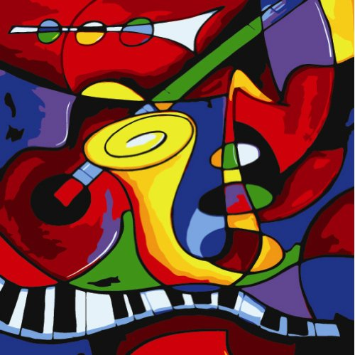 Diy oil painting, paint by number kit- worldwide famous oil painting Abstract Music by Picasso 16*20 inch.