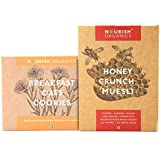 Nourish Organics Power Breakfast Combo- Honey Crunch Muesli, Oat Cookies