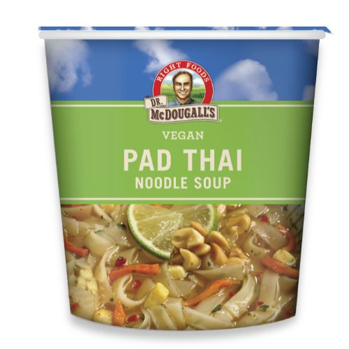 Dr. McDougall's Right Foods Vegan Pad Thai Noodle Soup, Fresh Flavor, 2-Ounce Cups (Pack of 6) (Vegan Foods Grocery compare prices)