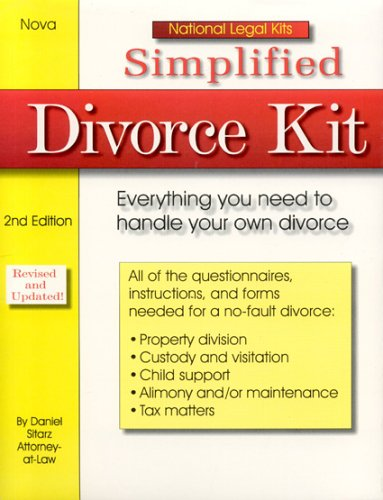 Simplified Divorce Kit, 2nd Edition, Daniel Sitarz