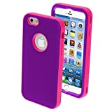 Product B00MP6BSXA - Product title MYBAT iPhone 6 Verge Hybrid Protector Cover - Retail Packaging - Rubberized Grape/Electric Pink