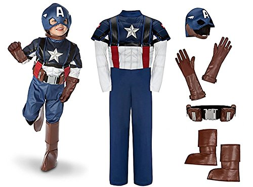 Disney Captain America Halloween Costume Glow in the Dark Size Extra Small 4 4T