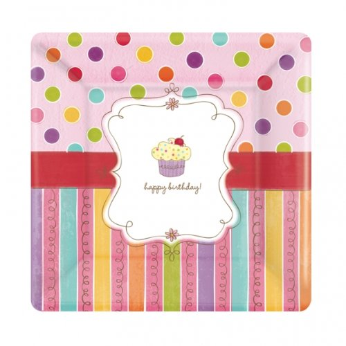 Amscan Sweet Stuff Birthday Dessert Plates 8 Ct. - 1