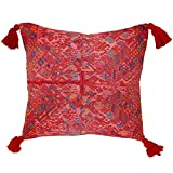 Laura Luna Textiles LL13A-243 Clochi Pillow, 20-Inch by 20-Inch