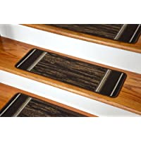 Washable Non-Skid Carpet Stair Treads - Boxer Chocolate (13)