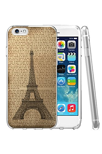 iPhone 6 Case, SPRAWL [Non-Slip] [Perfect-Fit] iPhone 6 (4.7) Case SlimNEW [Fit Series] [Thin Fit] Non Slip Surface with Excellent Grip Hard Case - Slim Case for iPhone 6 (4.7) (2014) -- Eiffel Tower in Retro Vintage News Paper (99 Cent Papers compare prices)
