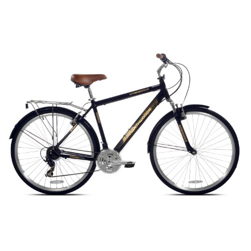 Lowest Prices! Northwoods Mens Springdale 21 Speed Hybrid Bicycle, Black