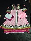 S,B Creation Womens Net Anarkali Suit (Pink_Free Size)