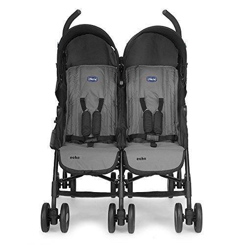 Chicco 6079311220000 Echo Twin Passeggino Gemellare, Coal