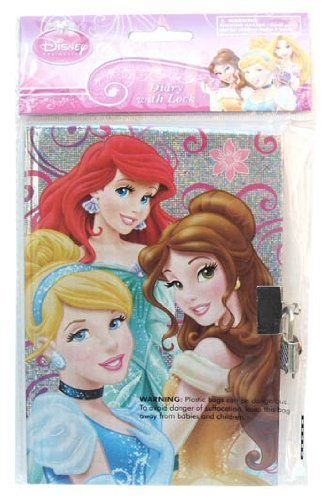 Disney Princess Sparkle Personalized Diary, Notebook W/lock