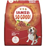 IAMS SO GOOD! Adult Dog Wholesome Blends With Hearty Beef Dry Dog Food 27 Pounds