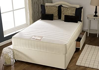 Happy Beds Flex Divan Bed Set With Spring Memory Foam Mattress 2 Drawers Same Side Headboard